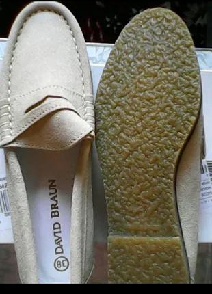Новые женские кожаные макасины размер 38 куплены с каталога OTTO