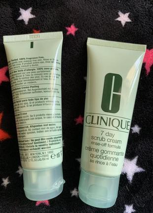 Кремовый скраб для лица clinique 7 day scrub cream