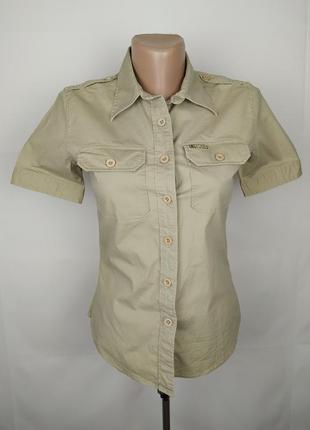 Рубашка блуза стречевая бежевая оригинал ralph lauren uk 8/36/xs