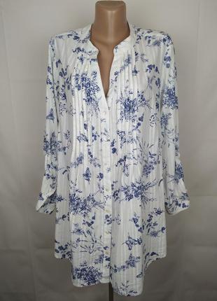 Блуза рубаха хлопковая красивая большого размера yours uk 22/5...
