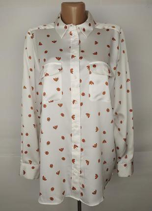Блуза в рубашечном стиле привлекательная в божьи коровки marks...