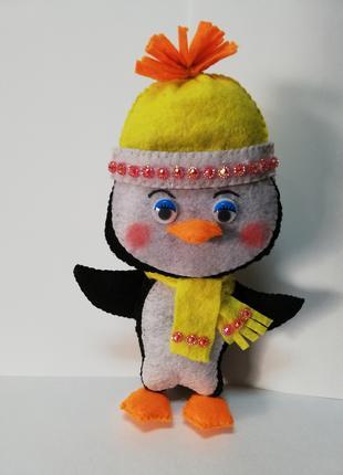 Пингвиненок Лоло мягкая игрушка из фетра   ручная работа