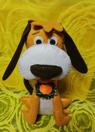 Собачка из фетра мягкая игрушка Handmade