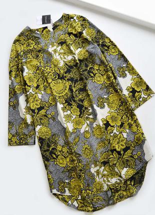 Свободное платье в цветы от topshop