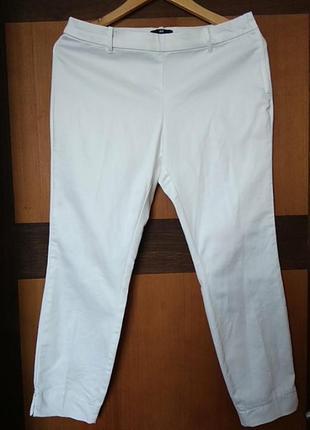 Білі укорочені брюки h&m