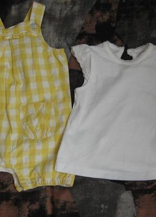 Боди с футболкой для девочки 1-3 мес george