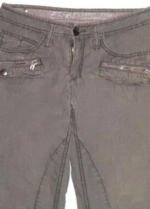 Хлопковые, серые, хаки штаны, брюки карго Esprit с карманами