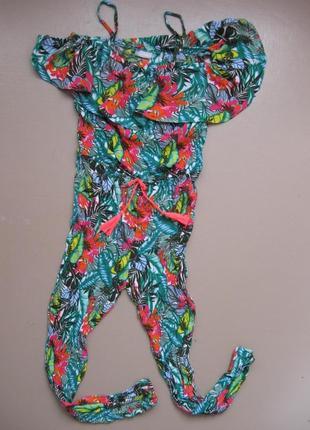 Ромпер комбинезон штаны на 11 лет girlswear легкий яркий модный
