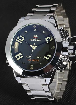 Часы наручные мужские FORSINING LED Black M187