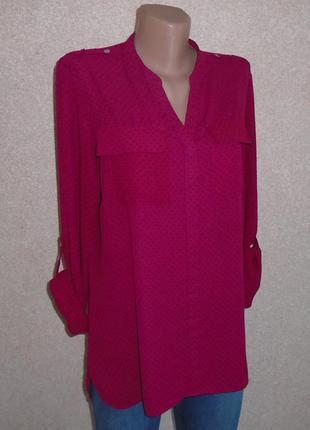 Шифоновая длиненная блуза/блузка/рубашка/сорочка шифонова