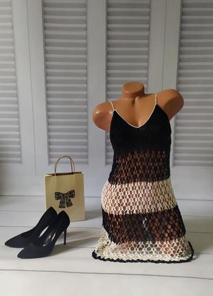 Платье вязаное, ручная работа