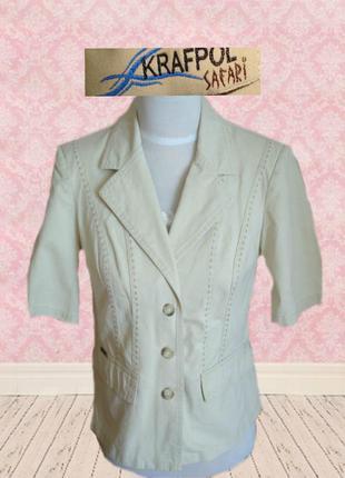 🌺🌺 krafpol стильный укороченный пиджак в стиле сафари польша 🌺🌺🌺