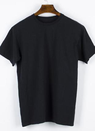 Черная однотонная футболка, женская футболка оеверсайз, стильн...