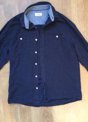 Чоловіча рубашка від colin`s, мужская темно синяя рубашка.