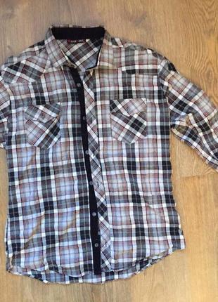 Крута рубашка, рубашка в клетку.