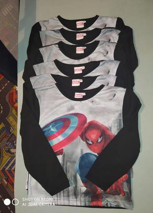 Термо реглан spiderman от marvel ; 5/6 лет.