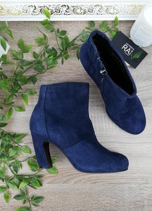 🌿37🌿5th avenue. замша. стильные ботинки на изогнутом каблуке