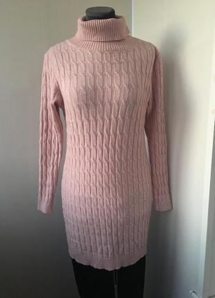 Италия! плюшевый удлиненный свитер туника платье, косы, вязка ...