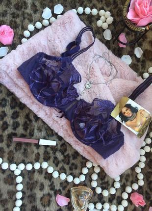 Фиолетовый кружевной бюстгальтер. есть чёрный. новые с бирками...