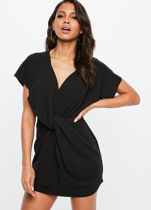 Чёрное короткое платье. новое. размер m. missguided.