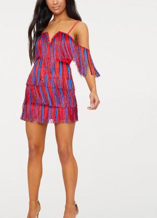 Платье с кисточками. новое с биркой. размер xs. prettylittleth...