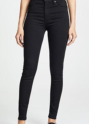 Чёрные джинсы с очень высокой посадкой.новые с биркой.оригинал...