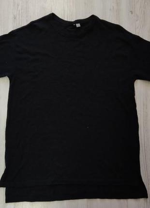 Распродажа до 10 апреля!!!🔥 черная удлиненная футболка оверсайз