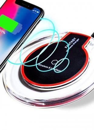 Адаптер для телефона беспроводной K9 QI wireless charge Чёрный