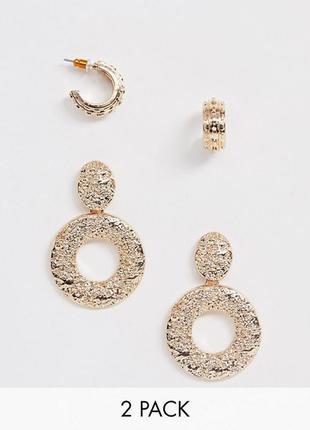 Сережки кільця, серьги гвоздики, серьги кольца asos