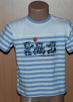 Футболка на мальчика бренда topolino /100%cotton/ с пуговками ...