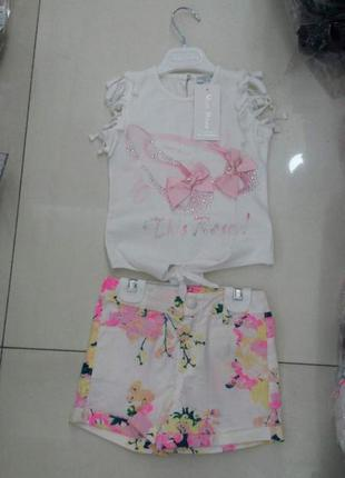 Костюм, комплект футболка и шортики baby rose