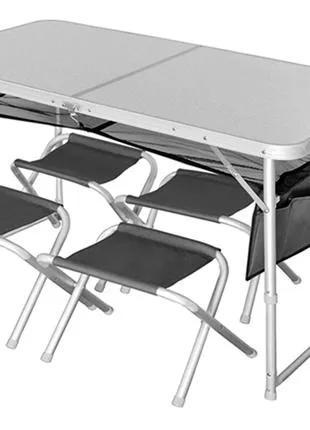 Комплект мебели (стол+4 стула) Norfin Runn Alu (NF-20310)