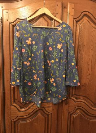 Блузка в цветочный принт tom tailor