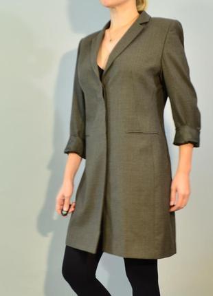 2739\120 темно-зеленый шерстяной пиджак m&s l