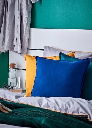 Синий чехол на подушку ikea gurli 50х50см / икеа гурли !