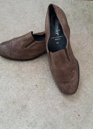 Комфортные туфли semler  37.5.38р подошва антистресс