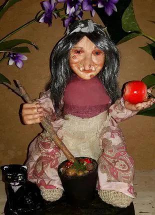 Баба Яга кукла сувенирная ручной работы
