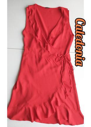 Calzedonia красное платье халат на запах