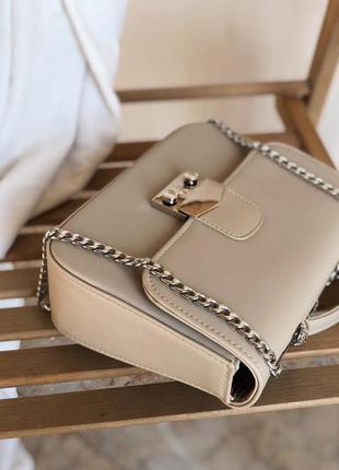 Бежевый клатч сумка