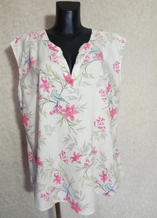 Натуральная лён+ вискоза блуза