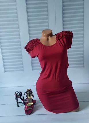 Платье красное, s/m