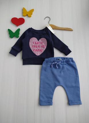 0-3 мес комплект одежды на малышку