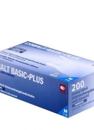 Перчатки нитриловые без пудры Ampri COBALT BASIC-PLUS 200шт/уп