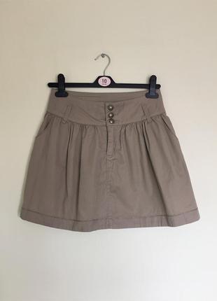 Красивая юбка tally weijl  р. xs/s бежевая, базовая
