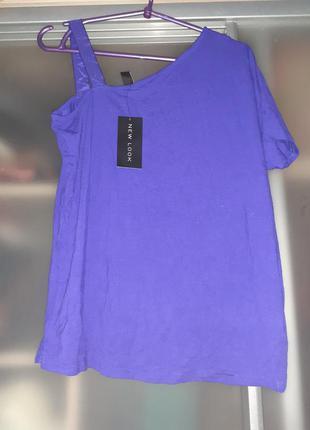 Футболка  блуза   новая на одно плечо