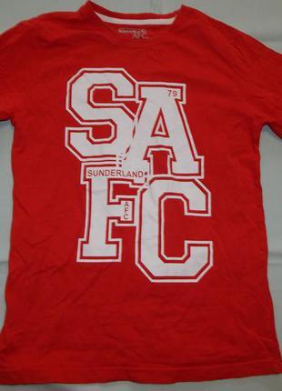 Sunderland afc футболка модная на мальчика 11-12 лет красная