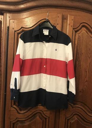 Рубашка в полоску escada