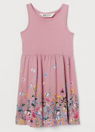 H&m детское платье с цветами для девочки