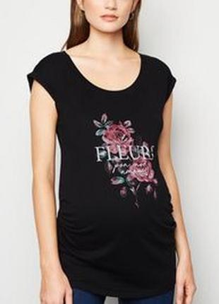 New look. футболка с цветочным принтом. uk 14 на нш 46-48 новая