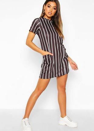 Boohoo. хит продаж!!! платье футболка uk 10 uk 14 новые.